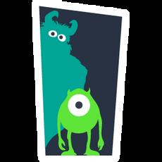 Monsters Inc Door Silhouettes