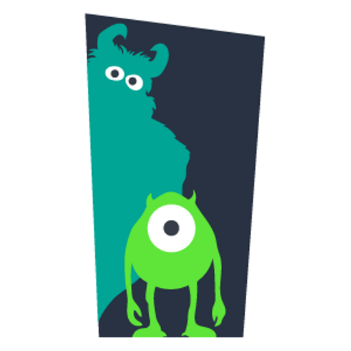 Monsters Inc Door Silhouettes
