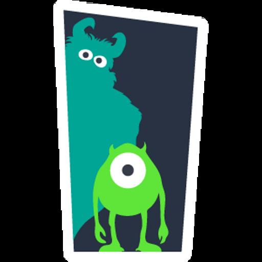 Monsters Inc Door Silhouettes Sticker Mania