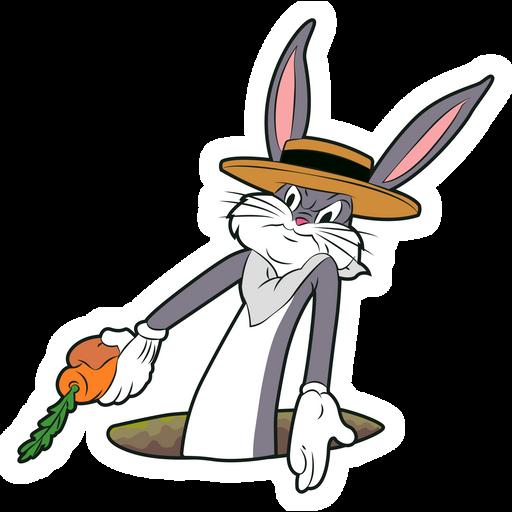 Perplexed Bugs Bunny Sticker