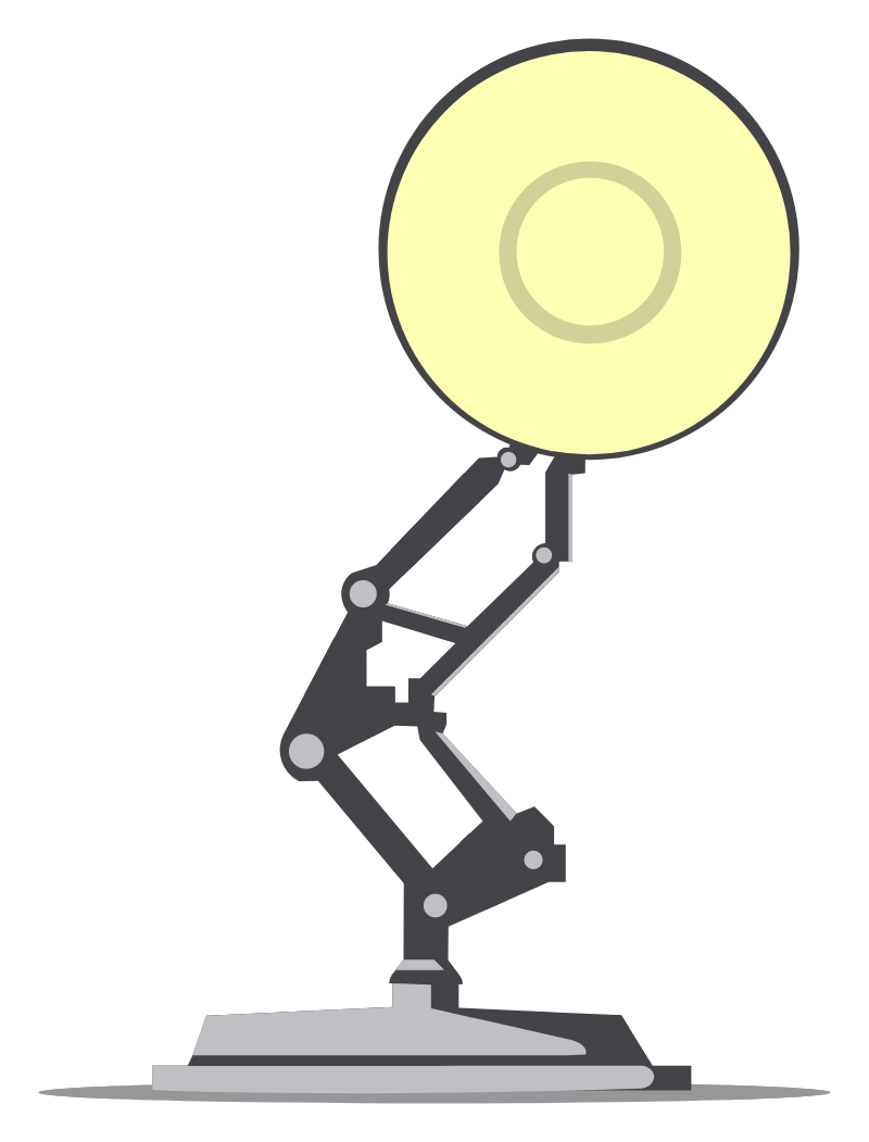 Pixar Luxo Jr. Sticker