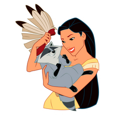 Pocahontas and Meeko Sticker