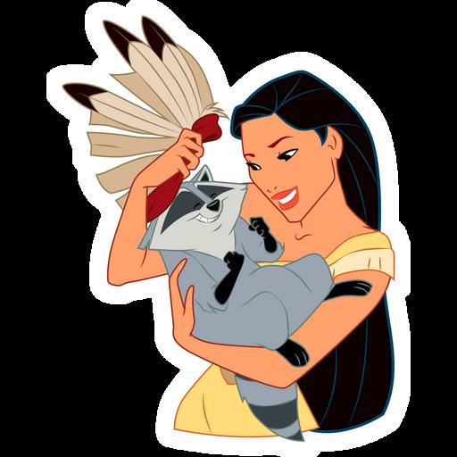 Pocahontas and Meeko Sticker