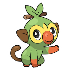Pokemon Sword and Shield Grookey Sticker