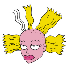 Rugrats Cynthia Doll Sticker