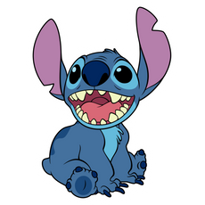Smiling Stitch Sticker