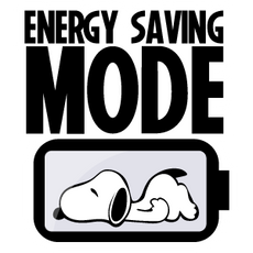 Snoopy Energy Saving Mode