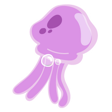 SpongeBob Pink Jellyfish Sticker