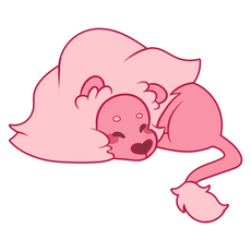 Steven Universe Sleeping Lion Sticker