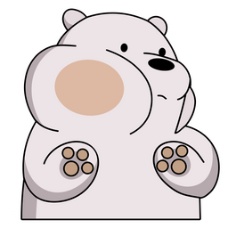 We Bare Bears Ice Bear is Very Close Sticker