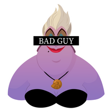 Ursula Bad Guy Sticker