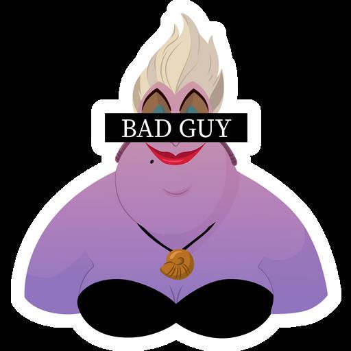 Ursula Bad Guy Sticker