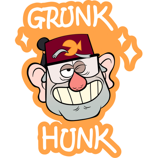 Gravity Falls Grunk Hunk Stan Sticker