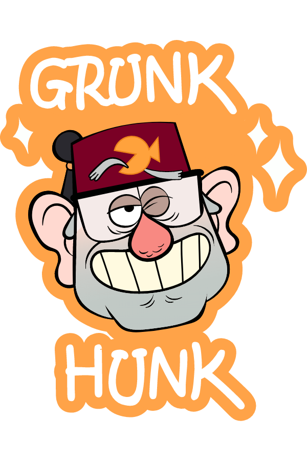 Gravity Falls Grunk Hunk Stan Sticker