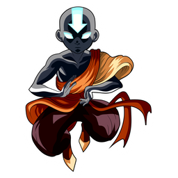 Aang Enters the Avatar State Sticker