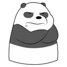 We Bare Bears Offended Panda Sticker