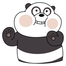 We Bare Bears Cute Panda Sticker
