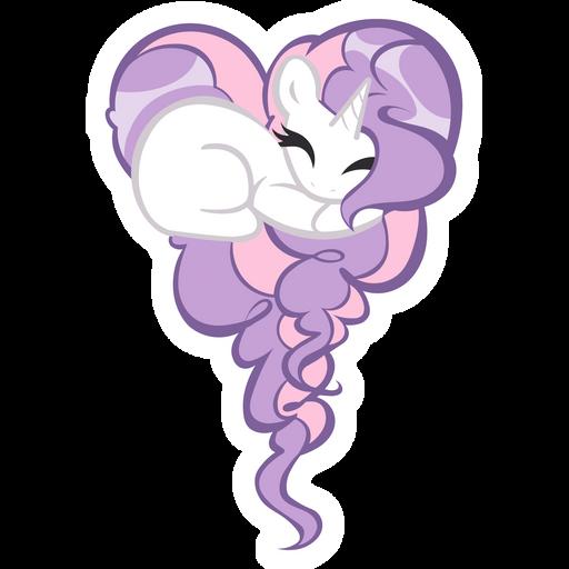 MLP Sleeping Sweetie Belle Sticker