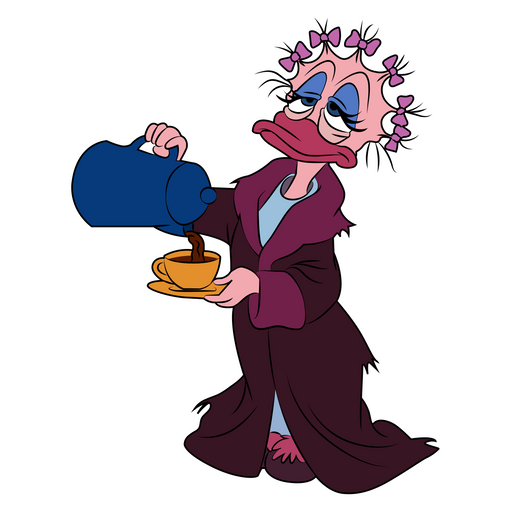 Daisy Duck in the Morning Sticker