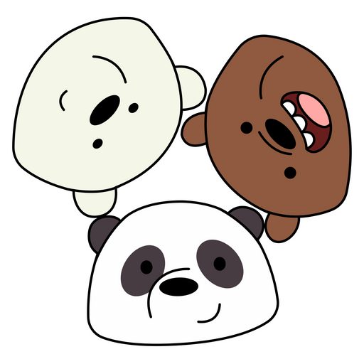 We Bare Bears Looks at You Sticker