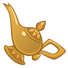 Aladdin Genie Lamp Sticker