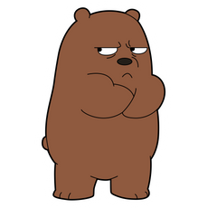 We Bare Bears Offended Grizzly Sticker