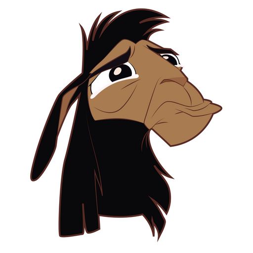 The Emperors New Groove Crying Kuzco Llama Sticker