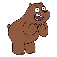 We Bare Bears Happy Grizz Sticker
