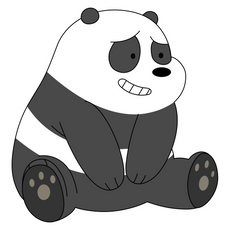 We Bare Bears Silly Panda Sticker