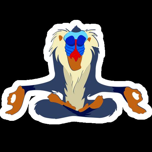 The Lion King Rafiki Sticker