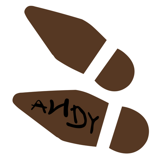 Toy Story Woody's Boot Trace Sticker