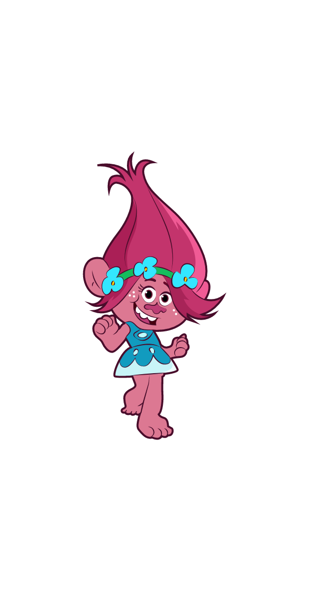 Trolls Queen Poppy Sticker