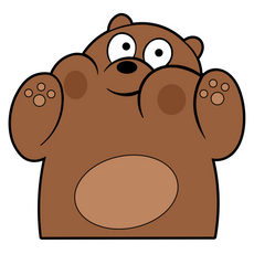 We Bare Bears Grizz Very Closely Sticker