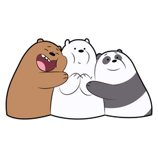 We Bare Bears Hugs Sticker