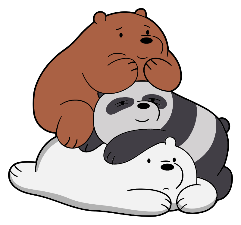 We Bare Bears Together Sticker