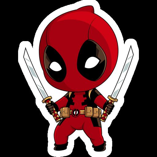 Marvel Chibi Deadpool Sticker