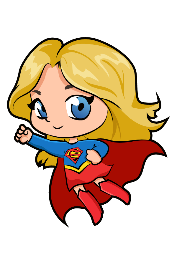 DC Comics Chibi Supergirl Sticker