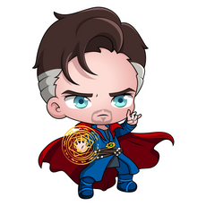 Marvel Chibi Doctor Strange Sticker