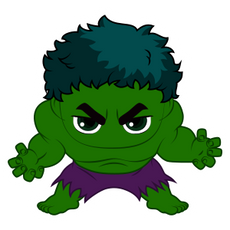 Marvel Chibi Hulk Sticker