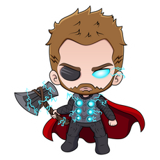 Marvel Chibi Thor Sticker