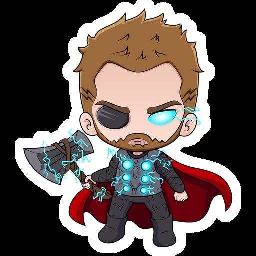 Marvel Chibi Thor Sticker