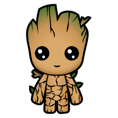 Marvel Chibi Groot Sticker