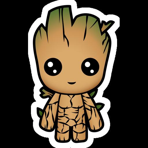 Marvel Chibi Groot Sticker