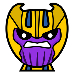 Marvel Chibi Thanos Sticker