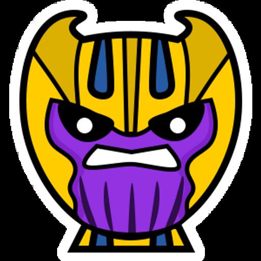 Marvel Chibi Thanos Sticker