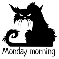 Black Cat Monday Morning Sticker