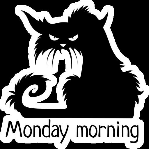 Black Cat Monday Morning Sticker