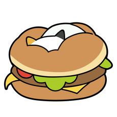 Burger Surprise Sticker