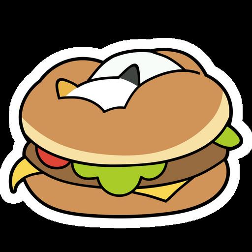 Burger Surprise Sticker