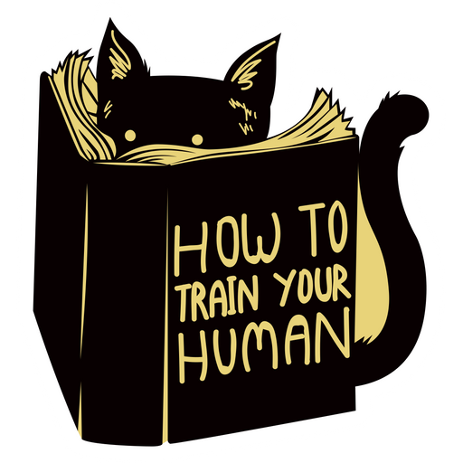 Cat and How to Train Your Human Book Sticker